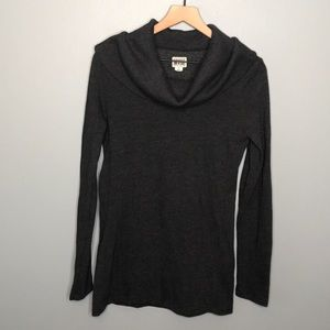 Converse charcoal gray cowl neck sweater sz M